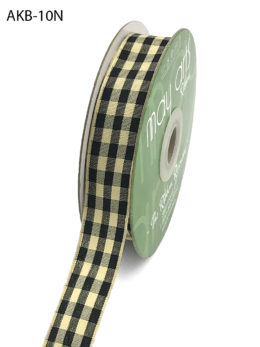 black and ivory picnic gingham ribbon