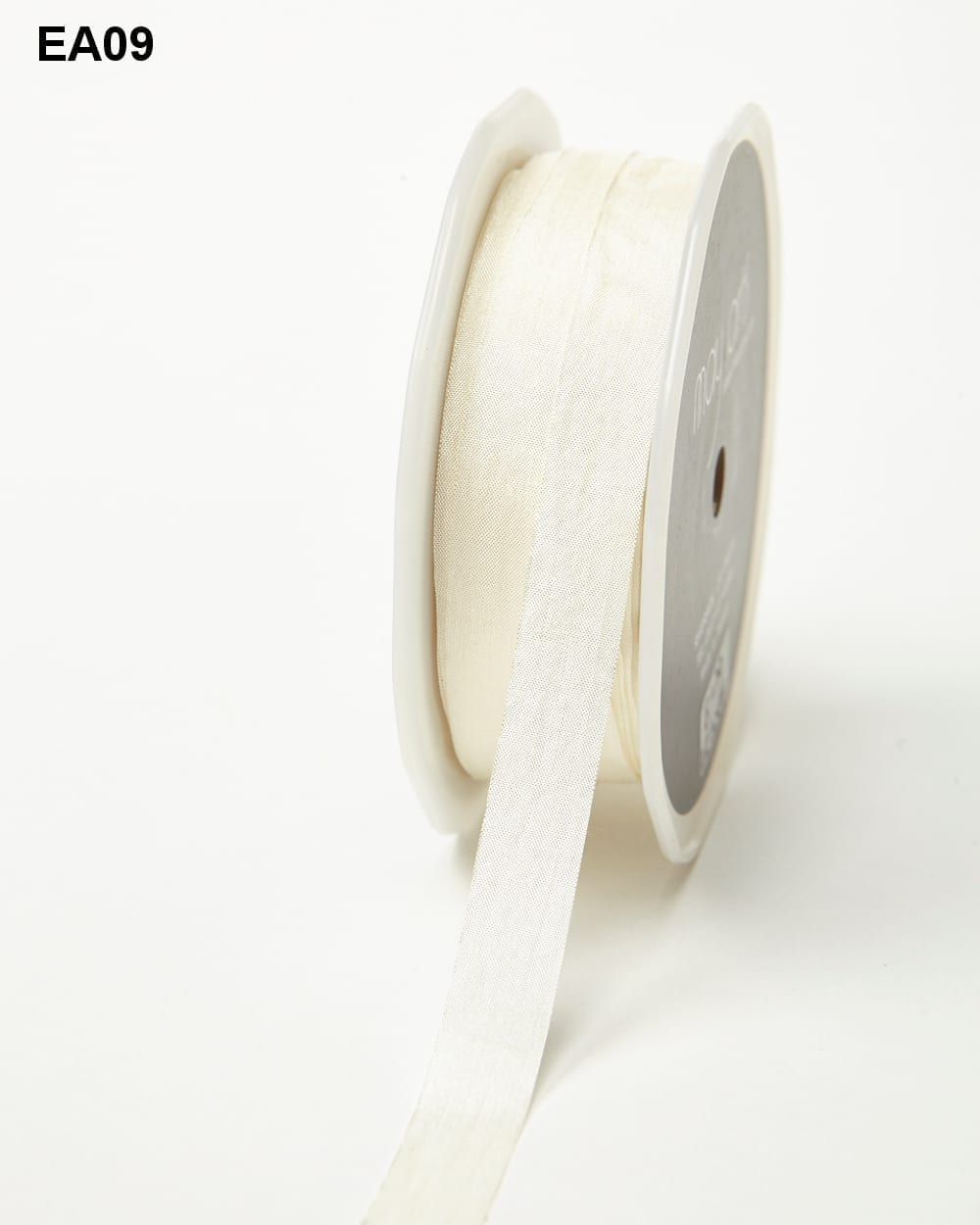 Ivory Solid Wrinkle Ribbon
