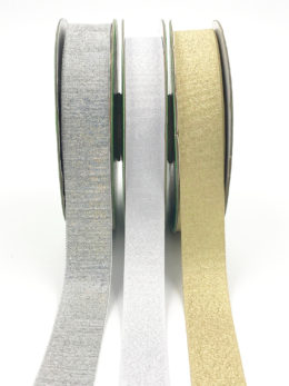woven metallic holographic ribbons