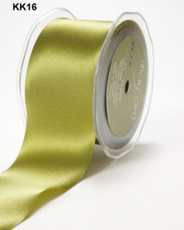 3 Inch Single Faced Satin Cut on the Bias Ribbon with Cut Edge - KK16 - OLIVE